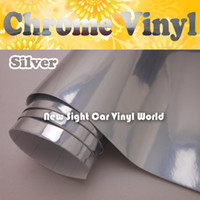 Wholesale High Glossy Silver Chrome Vinyl Film For Car Stickers With Air Bubble Free FedEx Size M Roll