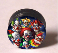 Wholesale Clowns ear plug ear expander flesh tunnel ear plug body jewelry mixing sizes HH91619