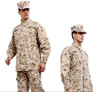 Wholesale hot combat BDU Uniform military uniform paintball suit hunting suit Wargame COAT PANTS BDU Beige