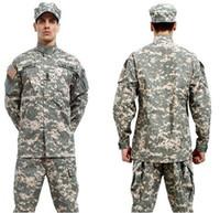 Wholesale hot combat BDU Uniform military uniform paintball suit hunting suit Wargame COAT PANTS BDU Grey
