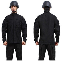Regular bdu suit - hot combat BDU Uniform military uniform paintball suit hunting suit Wargame COAT PANTS BDU Black