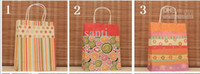 Fool's Day Handled Paper 9 Style (H27xW21x Bottom width 11cm) kraft paper gift bag, , Festival gift bags, Paper bag with handles, wholesale