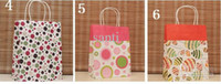 Fool's Day Handled Polka Dot 9 Style (H27xW21x Bottom width 11cm) kraft paper gift bag, , Festival gift bags, Paper bag with handles,