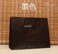 Wholesale 15 Colors x33x12cm Fashion Hand Length Handle Paper Bag