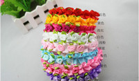 Wholesale Rose Headbands Satin Hair Accessories Children Headwear Ribbon Girls Hair Band