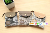 newspaper bags - New vintage newspaper style fabric coin bag small Purses