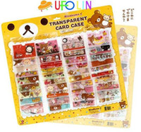 Wholesale new pvc color Rilakkuma card bag