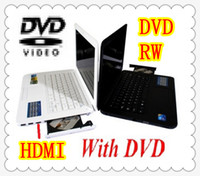 Wholesale DHL inch laptop intel Atom D2500 GHz Dual Core RAM G HDD GB GB win7 OS with DVD RW