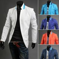 Wholesale 2015 Spring new fashion men s Suits Korean version Slim Two Button Suits Casual men s suits white men s Outwear