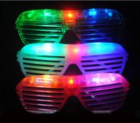 Wholesale 2013 Hot Sale Shutters Shape LED Flash Glasses For Dances Party Supplies Decoration