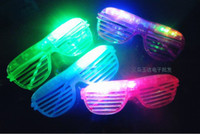 Wholesale EMS FAST Fashion Shutters Shape LED Flash Glasses For Dances Party Supplies Decoration