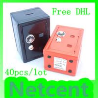 Metal money box - Square Shaped Mini Piggy Bank Password Safe Metal Money Box Free DHL