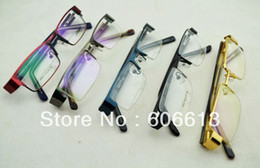 wholesale designer spectacle glasses frame Half -rim metal optical eyeglasses, Free Shipping