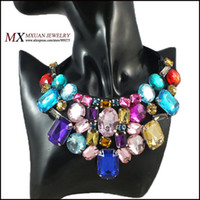 precious jewelry - Min order can mix order Newest Women Semi Precious Stones Fashion Necklace Brand Jewelry XL1162