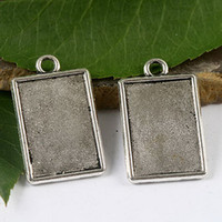 Wholesale 20pcs dark silver rim picture frame charms H1652