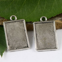 20pcs dark silver rim picture frame cab SIZE: 21*14mm Materials:zinc alloy metal, (lead free) charms H1652
