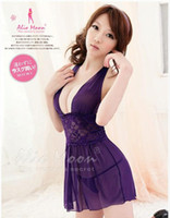 Wholesale Sweety babydoll Night Dress sexy underwear Sexy Lingerie Sleepwear Dresses Lace babydoll dress Ladies Nightwear