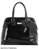 Wholesale retail guaranteed patent leather lady bags ladies bag women handbag QQ1572 black red beige