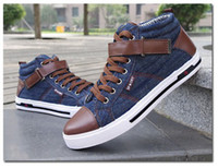 Wholesale Mens Shoes Mens Causal Shoes Mens Jeans Shoes Fashion Cool Jean Shoes High Qualiy Shoes Discount