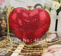 Cheap 2013 Shinny Evening Bag , Party Clutch bags ,Woman handbag , Bride Bag Purse , Mini shoulder bag 2013 Birthday Gift EB195