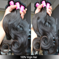 Wholesale A OFF bundles same length A high quality queen hair products brazilian virgin hair human hair weave DHL