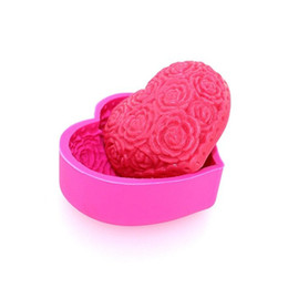 Wholesale 3D heart silicone mold soap fondant candle resin molds sugar craft tools chocolate moulds silicone molds for cakes form for soap