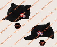 Wholesale Neon Genesis Evangelion EVA Soryu Asuka Langley Black Cute Cap With Cat Ears Cosplay Hat