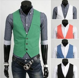 Wholesale 2013 new arrive men s vest casual mens vest colurs green