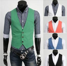 Wholesale 2013 new arrive men s vest casual mens vest colurs green