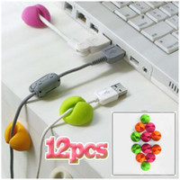 Wholesale 12PCS Multipurpose Cable Wire Cabledrop Clips Clamp Drop Holder Organizer Fixer