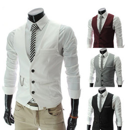 Wholesale 2013 new arrive Answer the color matching men s vest casual slim mens vest white