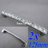 Wholesale 2pcs Crystal Glass mm Cabinet Knob Pull Handle Drawer Cupboard Door Wardrobe