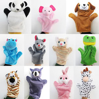 Wholesale 11p Baby Child Cute Zoo Farm Animal Hand Sock Glove Puppet Finger Sack Plush Toy