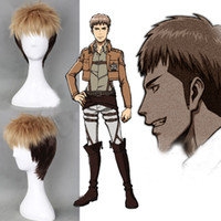 Wholesale Jean Kirstein Attack on Titan Short Blonde Black Anime Cosplay Party Wig Costume