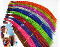 Wholesale 16 Inch Cm Feather Hair Extension beautiful Feather Extensions synthetic rooster Feather Extensions from rafi