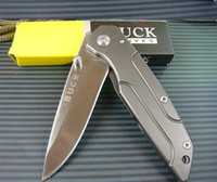Wholesale Excellent Quality BUCK HRC Outdoor Hunting Camping Folding Knife Tactical knife g Xmas gift