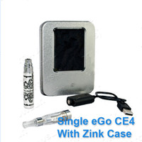 Wholesale Electronic Cigarettes Ego CE4 Kits K Batteries Pack EGO K kits CE4 Clearomizers E cigs kits kits Metal box Aluminum box