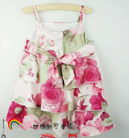TuTu Summer Pleated Suspender Dress,Namebrand baby and kids clothing,Wholesale for baby and kids wear,Girl's Dress,Flower Dress