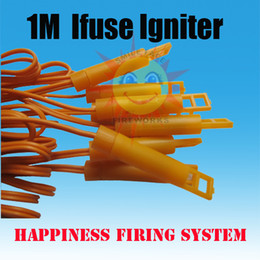 Wholesale FedEX free pieces Meter Ifuse igniters Safety ignitors with Pyrogen with Gun powder for fireworks display fireworks igniter