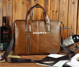 Wholesale brand male designer business leather laptop briefcase bag portfolio attache case suitcase handbag
