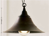 Wholesale Retro Iron Speaker Chandelier Ceiling Light Pendant Lamp Fixture Lighting mm