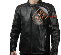 Jackets motorcycle racing suit - New style Men s th Anniversary genuine Leather Jacket motorcycle jacket knight Racing Suits