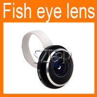 Wholesale 235 degree Super Clip fisheye lens Ib f20 for iPhone4 s Samsung Galaxy S3 S4 Note2 NOKIA HTC ONE