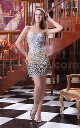 Wholesale Sexy Chiffon One Shoulder Beaded and Ruffle Sheath Mini Cocktail Dress Party Gowns
