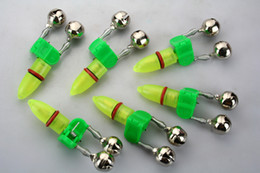 10PCS FISHING LED TWIN BELL WITH TIP LIGHT ROD ALARM