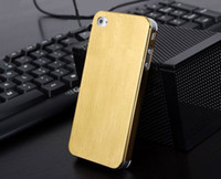 Metal For Apple iPhone For Christmas Wholesale -Brushed Metal cases For iphone 4 4s Cell Phone, high quality and very cool. mix order, eight colors, Free shipping by DHL