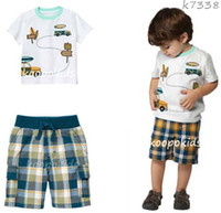 4T-5T Boy Summer Boy clothing set boys clothes 2013 summer boys wear boys outfit 2pcs Tshirt boy Short