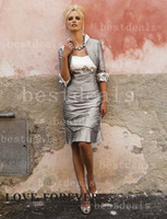Reference Images Strapless Taffeta Free Jacket! Hot Sales Mother Of Bride Dress Sexy Applique Ruffle Knee-Length Evening Dresses BO1380