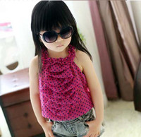 Wholesale Children Fashion Garment Girl Chiffon Clothes Cute Girl Tank Tops Kids Girl Clothing Childrens Wear Condole Belt