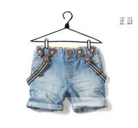 Girl jeans lot - Children s Girl Suspender Thouser Girls Shorts Kid Casual Pants Boys Jeans